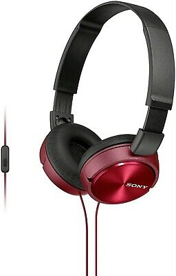 Sony MDR-ZX310AP Foldable Headphones With Smartphone Mic And Control Red  • 16.95£