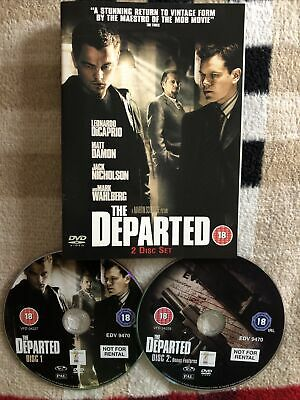 The Departed (DVD, 2007, 2-Disc Set) , ONLY DISCS & COVER . FREE POST • 1.70£