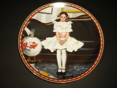 $ CDN24.79 • Buy 1986 Norman Rockwell Sitting Pretty Edwin Knowles Collectors Plate New In Box