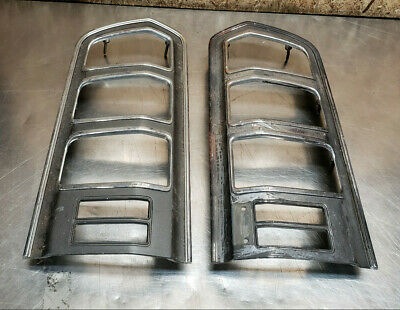 AU165.25 • Buy 76 77 Toyota Celica Gt Liftback Ra29 Tail Light Bezel Trim Chrome Set Left Right