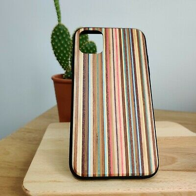 Fashionable WOODEN IPhone Case For 11, 11 Pro, XR. Soft Silicone Shockproof Case • 9.99£