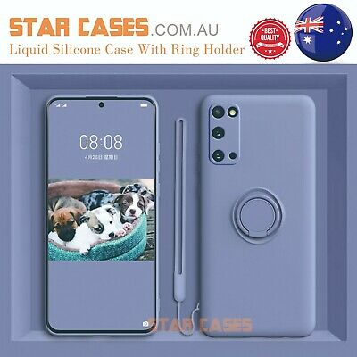AU11.99 • Buy Samsung S21 S20 Ultra Plus S10e Note20 Shockproof Silicone Ring Soft Case Cover
