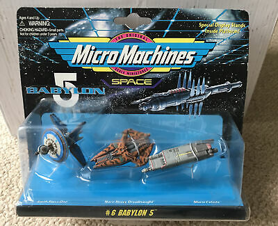 Babylon 5 Micro Machines Space (1994) #6 Toy Spaceship Set - (Earth Force One) • 2.20£