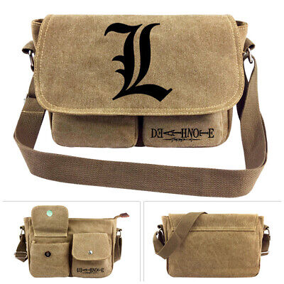 Anime Death Note Canvas Shoulder Bag Messenger Bag Haversack School Gift Boy • 14.95£