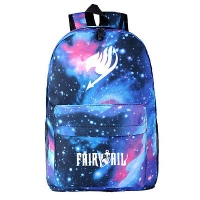 Anime Fairy Tail Canvas Backpack Shoulder Bag School Bag Cosplay Prop Gift • 13.95£