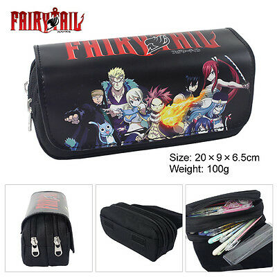 Anime Fairy Tail Double Layer Zipper Pen Bag Pencil Case Toy Gift Kids School • 7.95£