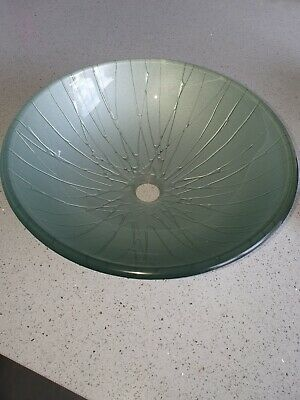 £20 • Buy GLASS WASH BASIN/ BOWL(silver) No Plug Included - 40cm Circumference