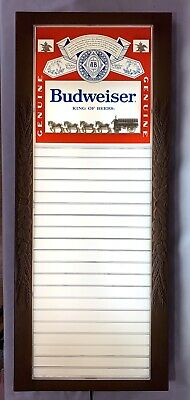 $ CDN101.24 • Buy Vintage Budweiser Clydesdale Horses Lighted Menu Board Advertising Sign
