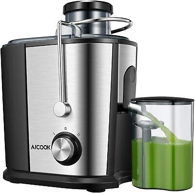AiCook 600W Whole Fruit And Vegetable Juicer Extractor   Energy Class A+++ • 49.95£