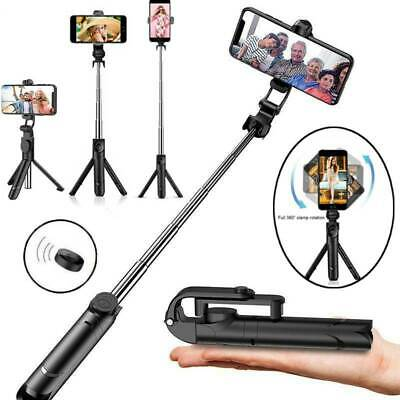 Telescopic Bluetooth Selfie Stick Tripod Monopod Phone Holder For IPhone Samsung • 6.99£