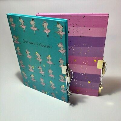 Girls Lockable Notebook Diary With Lock And Key • 4.99£