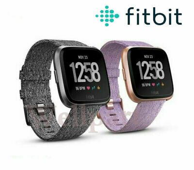 $ CDN114.22 • Buy NEW Fitbit Versa Special Edition Smartwatch Fitness Activity Tracker Black Pink