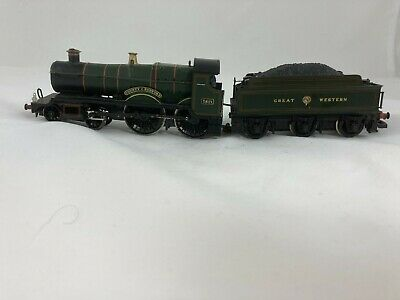 Hornby R3061 County Class 4-4-0 3821  County Of Bedford  In GWR Green Unboxed GC • 12.51£