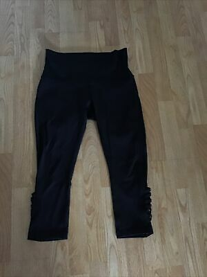 $ CDN44.29 • Buy Lululemon Minimalist Crop Leggings Hero Black Luxtreme Mesh Women's Size 10