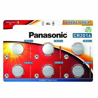 Panasonic CR2016 CR2025 CR2032 Lithium Coin Cell Battery Car Key Fob Toys Remote • 0.99£