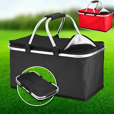 Extra Large 30L Insulated Cooler Cool Bag Box Picnic Camping Food Drink Ice UK • 8.87£