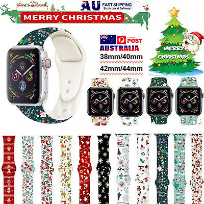 AU12.99 • Buy Xmas Silicone Sport IWatch Band Strap For Apple Watch Series 6 5 4 3 2 40/44mm