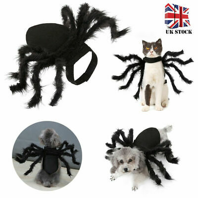 Halloween Pet Black Spider Costume Dog Cat Puppy Spider Cosplay Clothes Outfit L • 5.99£