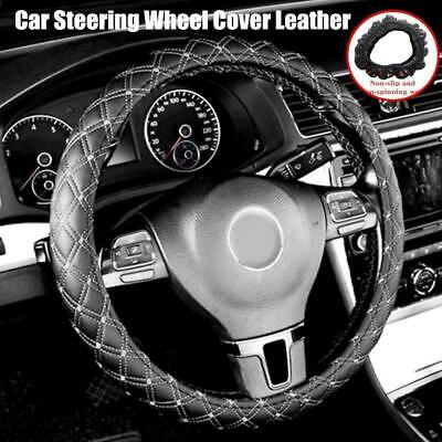 $8.66 • Buy Car Steering Wheel Cover PU Leather 38cm Non-Slip Protection Cover