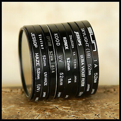FREE UK POST 52mm Clear Skylight UV Lens Protection Filter Suits Canon Nikon • 5.50£