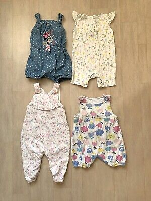 Baby Girls Romper/Dungaree/Playsuit Bundle - Age 6-9 Months • 10£