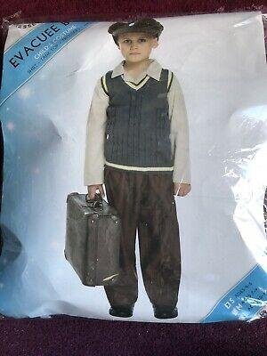 Boys Evacuee Costume Small  Age 4-6 Ideal WW2 Costume For Schools/book Day Etc • 3.50£