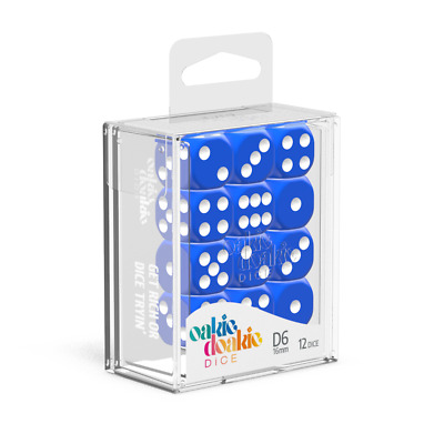 AU14.99 • Buy Oakie Doakie Dice D6 16 Mm Solid - Blue (12)