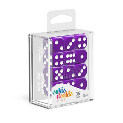 AU14.99 • Buy Oakie Doakie Dice D6 16 Mm Solid - Purple (12)