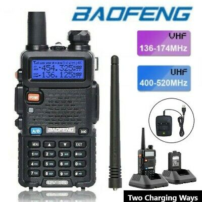 Baofeng UV-5R VHF/UHF Dual-Band USB Two Way Ham Radio Walkie-Talkie Earphone UK • 19.99£