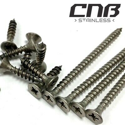 £4.99 • Buy Chipboard Screws Stainless A2 Pozi Drive Double Countersunk *Clearance* Sale