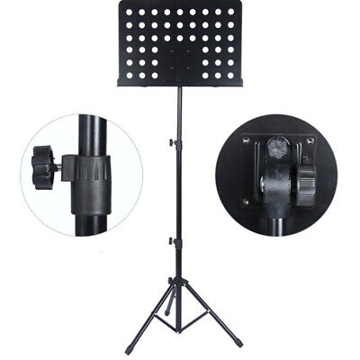 Orchestral Sheet Music Stand Heavy Duty Conductor Foldable Adjustable Tripod UK • 11.95£