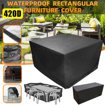 Heavy Duty Garden Patio Furniture Table Cover For Rattan Table Cube Set Outdoor • 18.59£