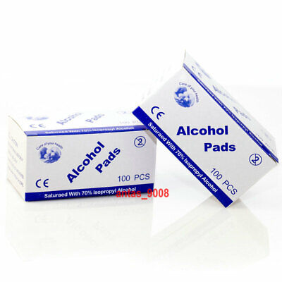 ALCOHOL 70-75% Swabs Wipes Pads Tattoo Nail Mobile Antiseptic Cleanser Cleaning • 6.99£
