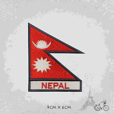 Nepal National Country Flag Patch Iron On Patch Sew On Embroidered Patch • 1.99£