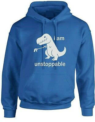 I'm Unstoppable Hoodie  Funny Dinosaur T Rex Novelty Hoody Adult And Kids • 15.99£