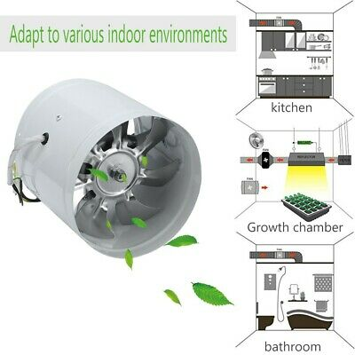 AU27.99 • Buy 4  6  Inline Duct Booster Exhaust Fan Aluminum Blade Ventilation Air Blower