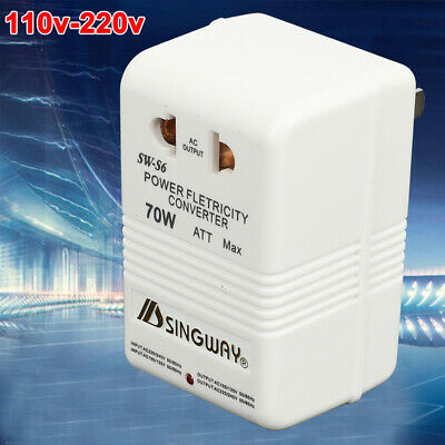 70W 110V/120V To 220V/240V Step-Up & Down Voltage Converter Transformer • 7.09£