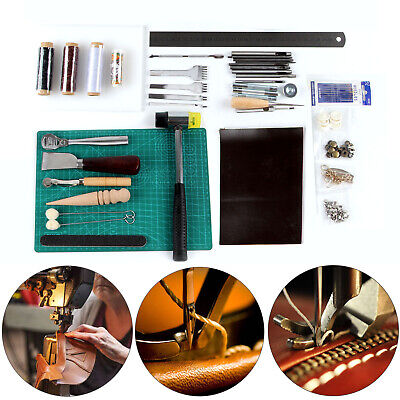 42Pcs DIY Sewing Stitching Punch Carving Working Saddle Leather Craft Tools Kit • 17.59£