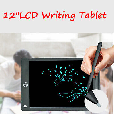 12  LCD Tablet Drawing Writing Board Kid Notepad EWriter Digital Graphic Gifts • 7.99£