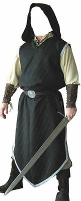 Black Color Medieval Viking Renaissance Clothing Tunic For Reenactment Theater • 44£