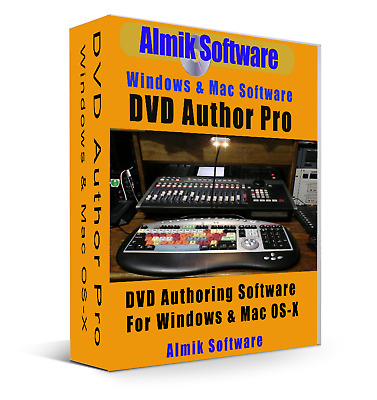 DVD Author Pro Editing Software For Windows Vista 7, 8, 10 & Mac OS-X  CD - Rom • 3.97£