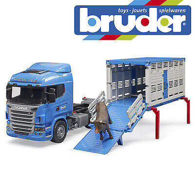 £75.99 • Buy Bruder Scania R-Series Cattle Truck & 1 Cattle Childrens Farming Toy Scale 1:16