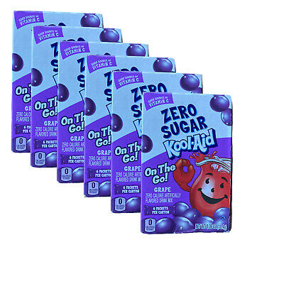 Kool Aid On The Go Zero Sugar Grape Drink Mix Singles (Lot Of 6) Hard To Find • 20.32£