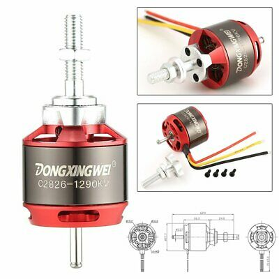DXW C2826 1290KV 2-4S Outrunner Brushless Motor For RC Fixed Wing Airplane ZX • 11.04£