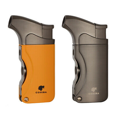 COHIBA Windproof Metal 1 Torch Jet Flame Cigar Lighter Butane Punch W/ Gift Box • 16.99£
