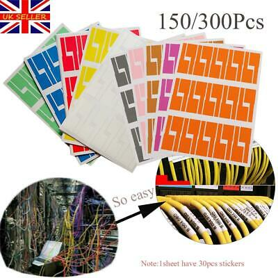 Self-adhesive Cable Sticker Waterproof Identification Tags Labels Organizers • 4.16£