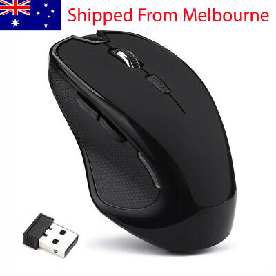 AU10.49 • Buy Wireless Optical Mouse USB Receiver 2.4 GHz Gaming Mice For PC Laptop