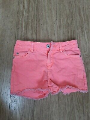 Girls Bluezoo Shorts Age 7 Neon Pink • 1.99£