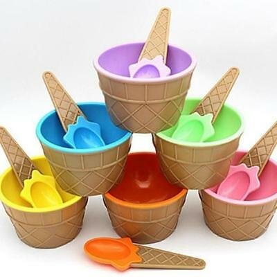 £3.21 • Buy Cone Sundae Dish Cup Ice Cream Bowl Styles Dessert Durable Safe Kitchen Tools