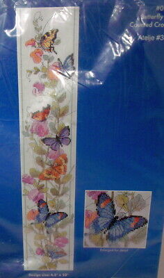 Janlynn BUTTERFLY BELL PULL Counted Cross Stitch Kit  4.5  X 22  • 11.57£